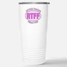 Retired Teacher IV Stainless Steel Travel Mug