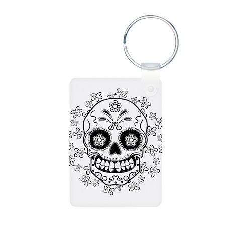 Sugar Skull Aluminum Photo Keychain