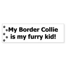Border Collie Furry Kid Bumper Bumper Sticker