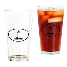 Race Point Beach MA - Oval Design. Drinking Glass