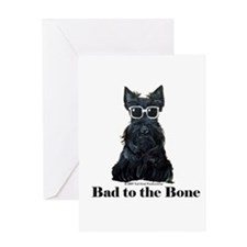 Scottie Bad to the Bone Greeting Card