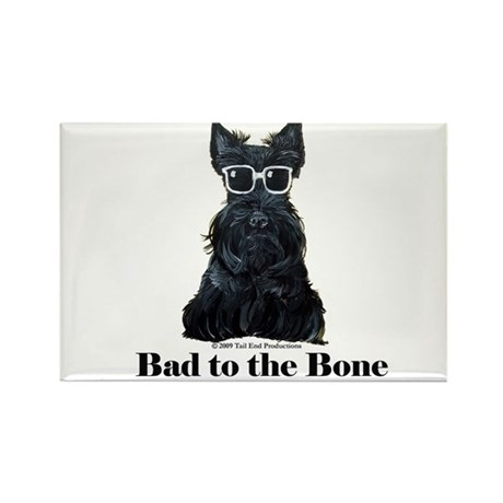 Scottie Bad to the Bone Rectangle Magnet