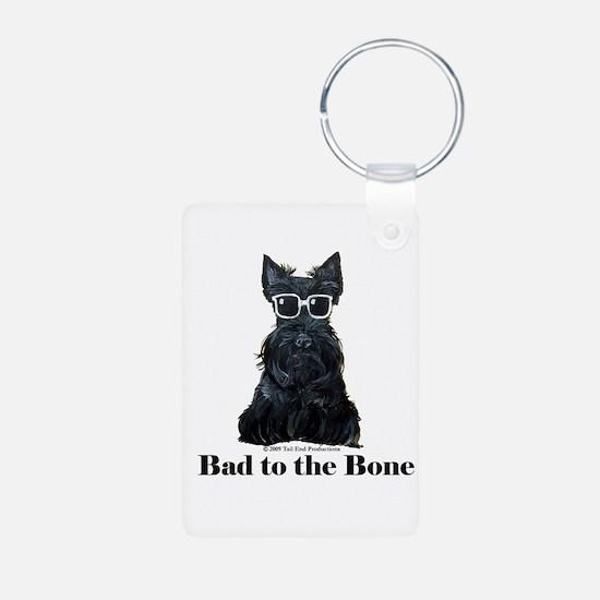 Scottie Bad to the Bone Aluminum Photo Keychain