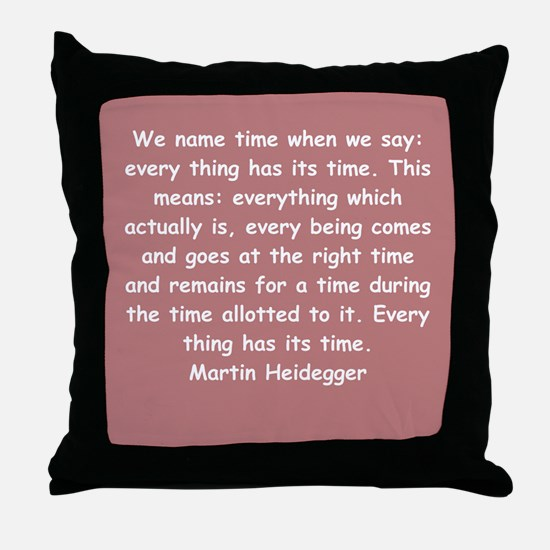 martin heidegger Throw Pillow