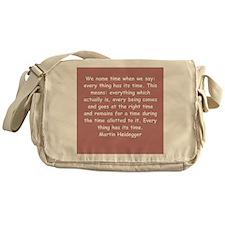 martin heidegger Messenger Bag