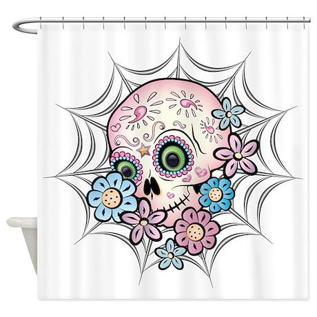 Sweet Sugar Skull Shower Curtain
