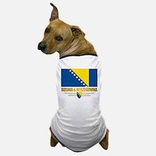 """Bosnia & Herzegovina Flag"" Dog T-Shirt"