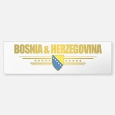 """Bosnia & Herzegovina Flag"" Bumper Bumper Sticker"