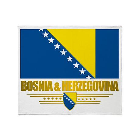 """""""Bosnia & Herzegovina Flag"""" Throw Blanket"""