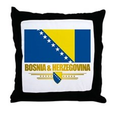 """Bosnia & Herzegovina Flag"" Throw Pillow"