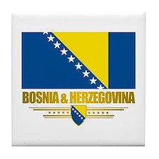 """Bosnia & Herzegovina Flag"" Tile Coaster"