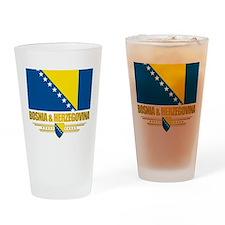 """Bosnia & Herzegovina Flag"" Drinking Glass"