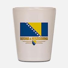 """""""Bosnia & Herzegovina Flag"""" Shot Glass"""