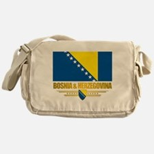 """Bosnia & Herzegovina Flag"" Messenger Bag"