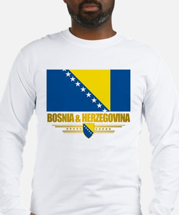 """Bosnia & Herzegovina Flag"" Long Sleeve T-Shirt"