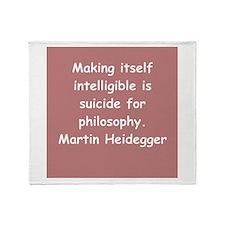 martin heidegger Throw Blanket