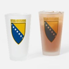 """Bosnia & Herzegovina COA"" Drinking Glass"