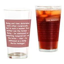 martin heidegger Drinking Glass