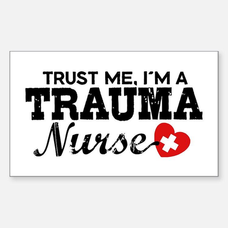 Trauma Nurse Sticker (Rectangle)
