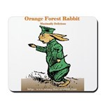 Orange Forest Rabbit Mousepad