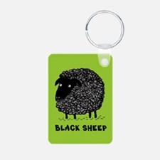 Black Sheep Aluminum Photo Keychain