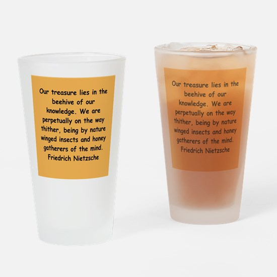 nietzsche gifts and apparel. Drinking Glass