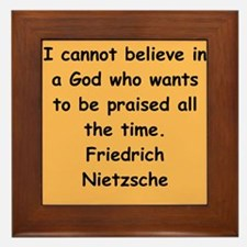 nietzsche gifts and apparel. Framed Tile