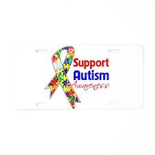 Support Autism Awareness Aluminum License Plate