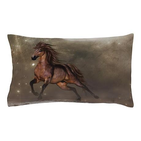 Brown Horse Pillow Case