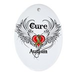 Cure Autism Ornament (Oval)