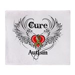 Cure Autism Throw Blanket