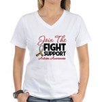 Join The Fight Autism Women's V-Neck T-Shirt