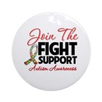 Join The Fight Autism Ornament (Round)