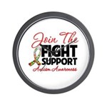 Join The Fight Autism Wall Clock