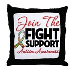 Join The Fight Autism Throw Pillow