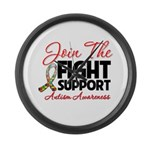 Join The Fight Autism Large Wall Clock