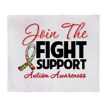 Join The Fight Autism Throw Blanket