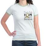 Faith Love Hope Autism Jr. Ringer T-Shirt