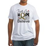 Faith Love Hope Autism Fitted T-Shirt