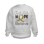 Faith Love Hope Autism Kids Sweatshirt