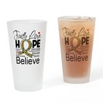 Faith Love Hope Autism Drinking Glass