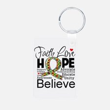Faith Love Hope Autism Keychains