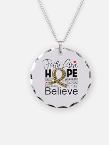 Faith Love Hope Autism Necklace