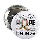 "Faith Love Hope Autism 2.25"" Button (10 pack)"