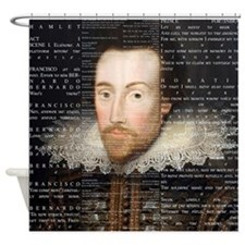 Shakespeare, Text of Hamlet, Shower Curtain