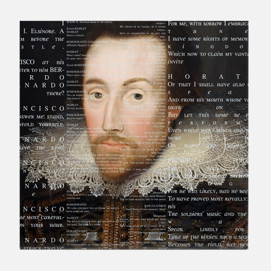 Shakespeare, Text of Hamlet, Tile Coaster