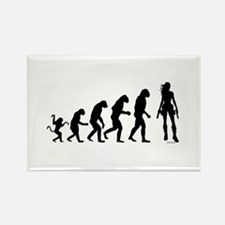 EVOLUTION OF WOMAN Rectangle Magnet