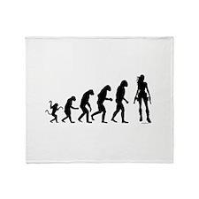 EVOLUTION OF WOMAN Throw Blanket
