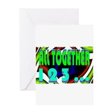 all together now 123 Greeting Card