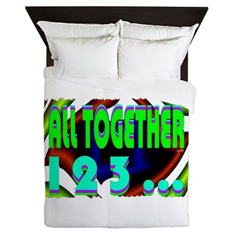 all together now 123 Queen Duvet